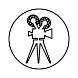Video camera retro icon. Vector illustration design Royalty Free Stock Photos