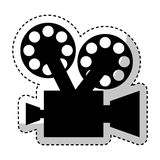 Video camera retro icon Royalty Free Stock Image