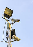 Video Camera Security System Royalty Free Stock Photography