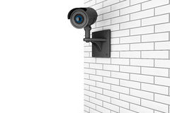 Video Camera Security System over Brick Wall Stock Photos
