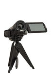 Video camera on small tripod Stock Image
