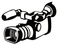 Video camera stencil style Royalty Free Stock Images