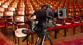 Video camera in a theater Royalty Free Stock Image