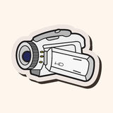 Video camera theme elements vector,eps Stock Image