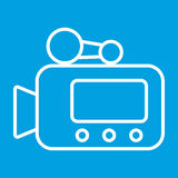 Video camera thin line icon Royalty Free Stock Image