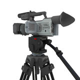 A video camera on tripod Royalty Free Stock Photos