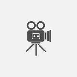 Video camera vector icon. On grey background Stock Image