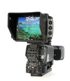 Video Camera Viewed from Back Stock Image