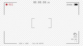Video camera overlay stock illustration