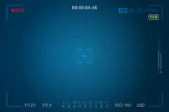 Video camera viewfinder template Stock Photography