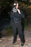 Video Cameraman Royalty-vrije Stock Afbeeldingen