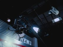 Video Cameras in News Studio royalty free stock photo