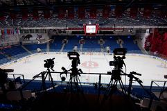 Video cameras of TV live Royalty Free Stock Images