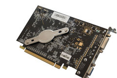 Video card. Bottom view of high end video graphic card Stock Images