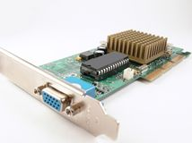 Video card. Close up on white background Royalty Free Stock Photography