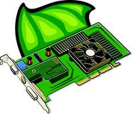 Video card. Illustration Royalty Free Stock Images