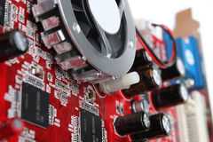 Video card. Closeup view of video card royalty free stock photos