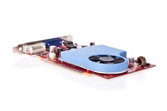 Video card with cooler isolated on white Stock Images