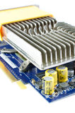 Video card with iron heatsink Royalty Free Stock Photography