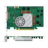 Video card isolated on white Royalty Free Stock Photo