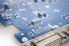 Video card microelectronic circuit Royalty Free Stock Photo