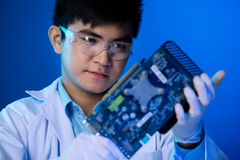 Video card repairing Stock Images