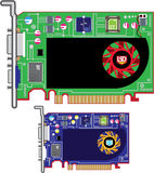 Video Card Vector Stock Image