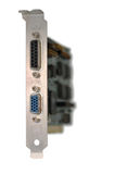 Video card on white background Royalty Free Stock Image