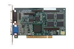 Video card on white background Stock Images
