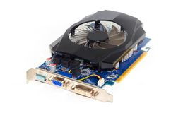 Video Card on a White Background, PC Hardware Royalty Free Stock Photos