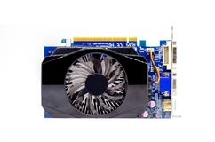 Video Card on a White Background, PC Hardware Royalty Free Stock Photo