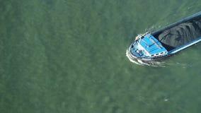Cargo Boat Top. Video of Cargo Boat Top stock video