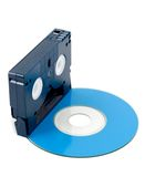 Video Case film and Disc Stock Photo