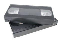 Video-cassetta del vassoio del nastro magnetico di VHS due Fotografia Stock