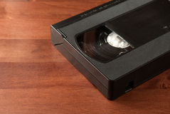 Video cassette close up on wood Royalty Free Stock Photography