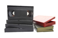 Video Cassette. Isolated on white stock photo
