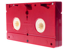 Video cassette isolated on white background Royalty Free Stock Images