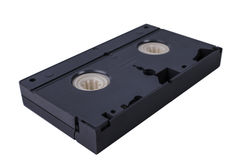 Video cassette isolated on white background. Video cassette VHS Royalty Free Stock Photo