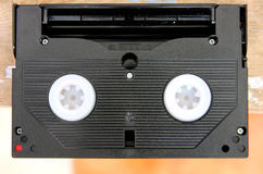 Video cassette. Mini video camera camcorder cassette royalty free stock photos