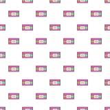 Video cassette pattern, cartoon style Stock Image