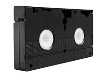 Video cassette tape. Old VHS Video tape isolated on white background stock photography