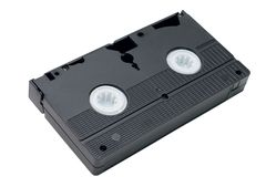 Video Cassette Tape Stock Photography