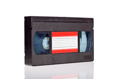Video Cassette tape isolated on white Royalty Free Stock Photos