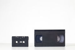Video and cassette tape Royalty Free Stock Image