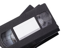 Video cassette VHS. Isolated. Old, obsolete video cassette vhs on a white background. It is isolated, the worker of paths is present Royalty Free Stock Photo