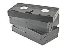 Video cassettes. stock photos