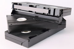 Video cassettes Stock Photography