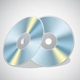 Video Cd. Illustration of video cd on abstract background Stock Image