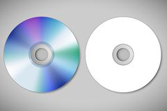Video Cd. Illustration of video cd on abstract background Stock Photography