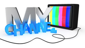 Video channel Stock Image